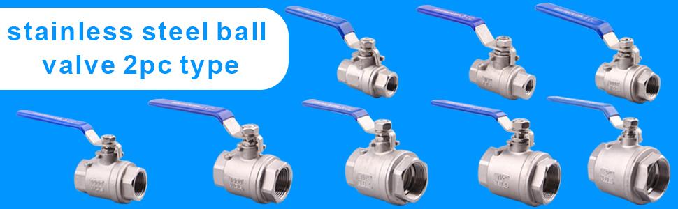 Stainless steel ball valve 2pc type
