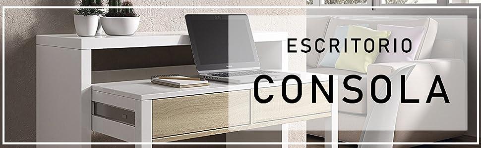 Habitdesign 004582BO - Mesa de Escritorio Extensible, Mesa Estudio ...