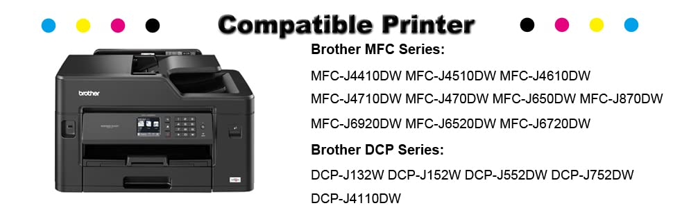 Incarler LC123 Cartuchos de Tinta Compatible con Brother LC123XL ...