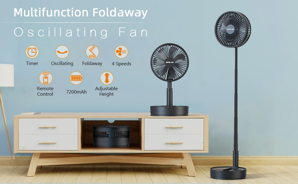 Foldaway Table Fan with Remote Control