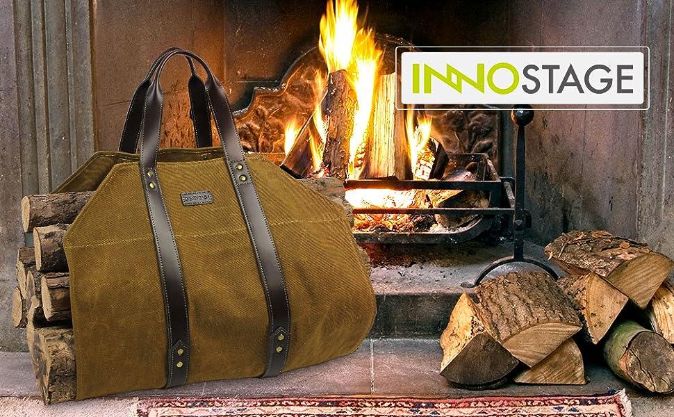 INNO STAGE firewood log rack holder storage for fireplace