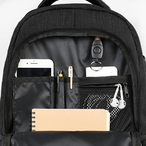 matein mochila negra 15.6 mochila para portatil hombre casual