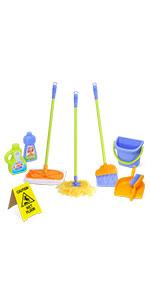Kidzlane housekeeping set pretend housekeeping set with broom and mops housekeeping toys cleaning
