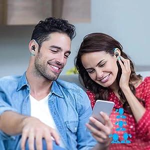 single mode twin mode mono mode bluetooth headphones with microphone wireless  earphones sport