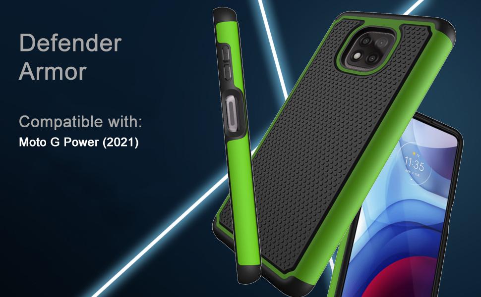moto g power 2021 case green
