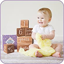 Baby monthly milestone blocks makes a great gift.