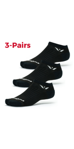 Swiftwick Performance Zero Black 3 Pack Socks, Value Pack socks, multi pack socks