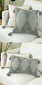 gray decorative pillows farmhouse throw pillows pillow decorative for sofa boho chair