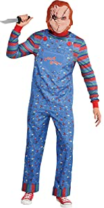chucky horror movie costume chucky doll killer murderer 80s movie character scary sexy comfortable