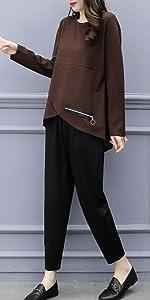 Hoodie, Sweatshirt, Roomwear, Slim, Silhouette, Stylish, Simple, Hood, Cute, Attaca, Osoloi, Matching, Sexy, Adult, Hairo, Gray, Long Skirt, Gray Set