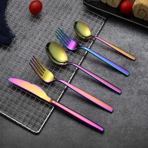 40-Piece Colorful Flatware Set