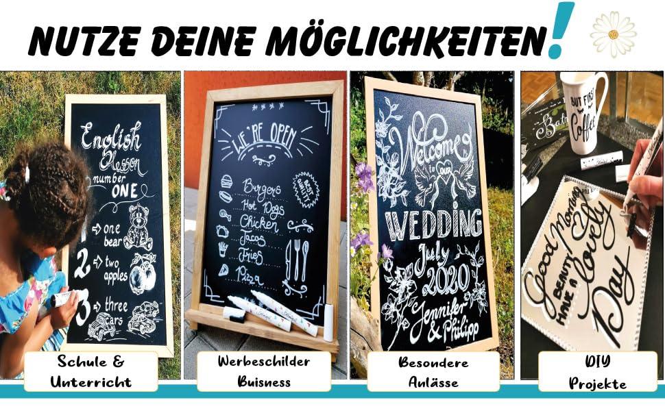 kreidemarker schule unterricht diy projekt schilder tafel buisness meeting bistro cafe menu