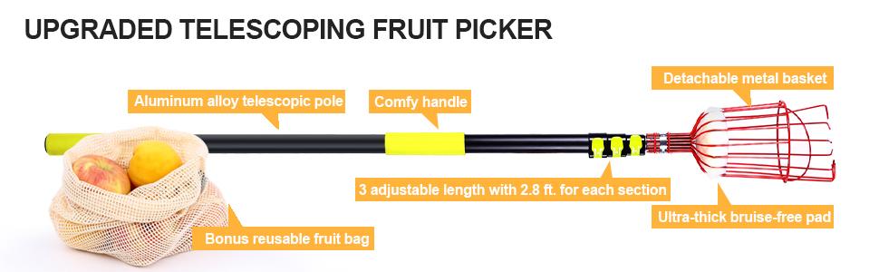 ohuhu upgraded telescoping fruit picker