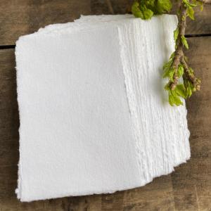 White Deckle Edge paper
