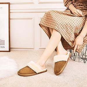 women slippers camel