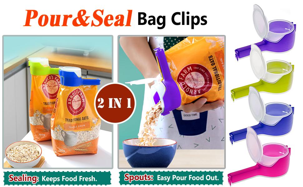 bag clips with spouts pour bag clips food bag clips chip clips pour food storage sealing clips