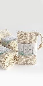 Jaboneras bolsas sisal miltipropósitos ecológicas sustentables belleza cuidado personal