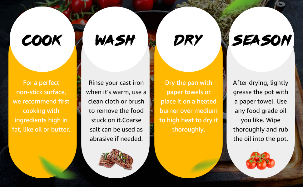 cook-wash-dry-season, take care of it properly, it'll last a lifetime and beyond.