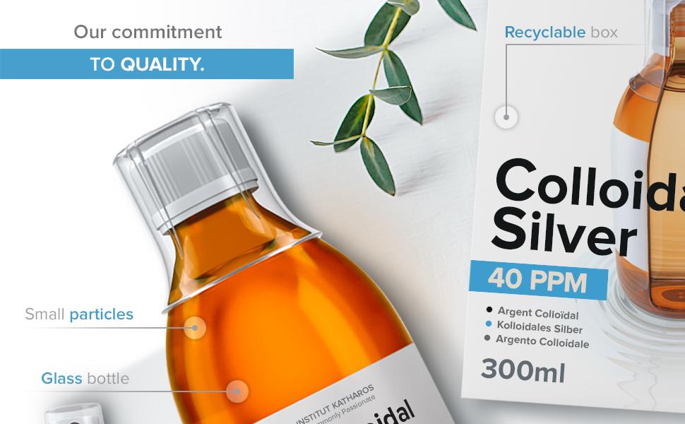 Colloidal silver liquids 40 PPM