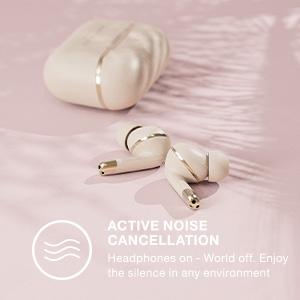 wireless bluetooth earphones headphones in-ear earbuds earpods noise cancelling touch control