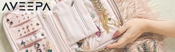 Beige, Nude Pink Jewelry Organizer