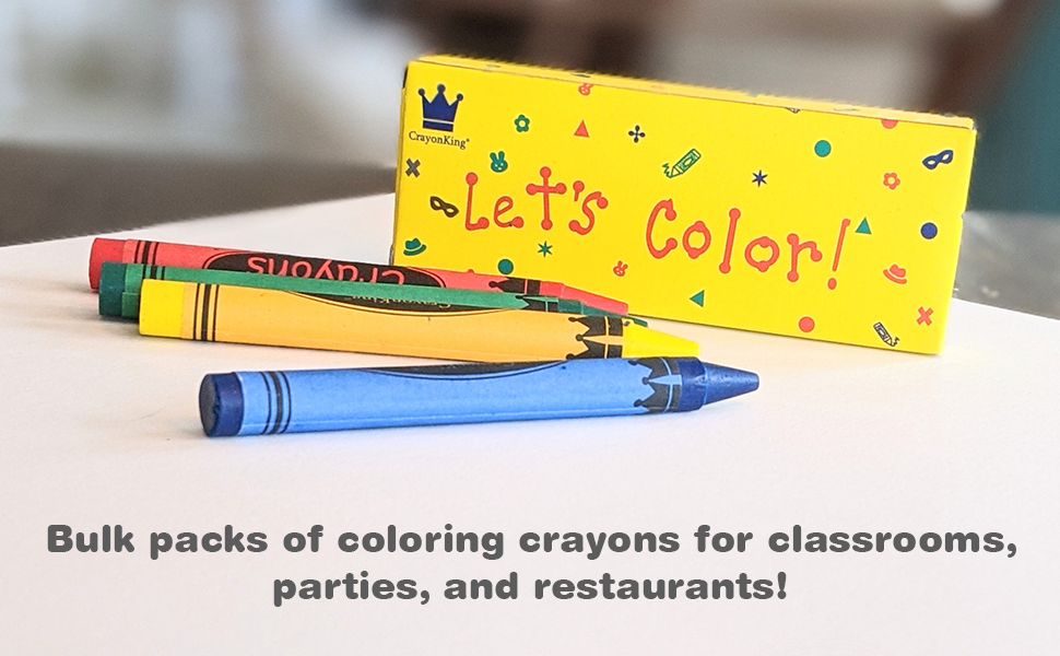CrayonKing 150 4-packs of crayons in a box
