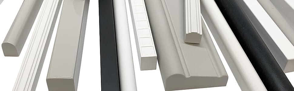 Soho Bullnose Tile Trim 3 4 X 12 Inch Shower Ceramic Tile Edge Decorative Backsplash Liner Wall Molding Matte Bright White 12 Pack