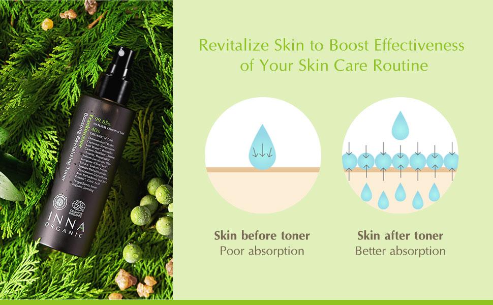 frankincense boosting toner mist tightening anti aging refreshing Inna Organic natural