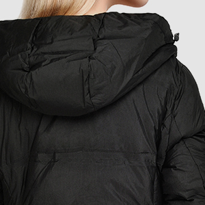 c6ae3f7c9 valuker Women's Seamless Hooded Down Coat Jacket Puffer Parka Jacket