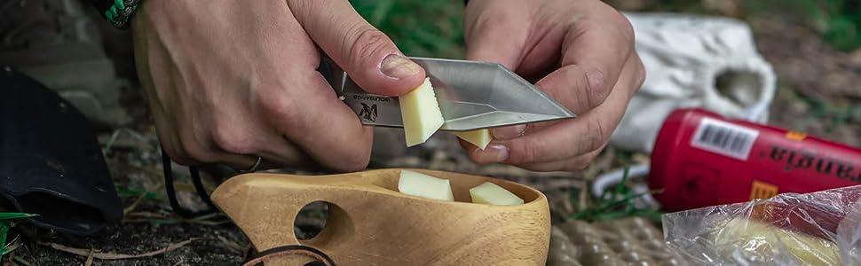 Wolfgangs Ferox Outdoor Messer essen zubereiten camping