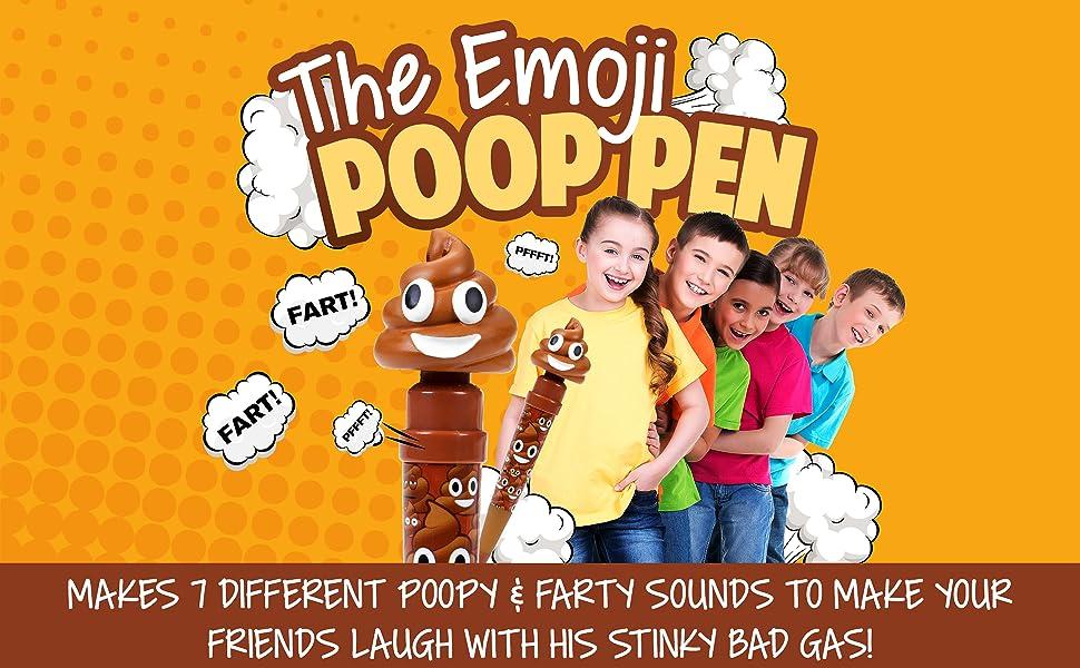 Farting Poop Emoji Pen