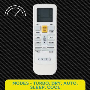 Auto, Cool, Turbo, Sleep & Dry Modes