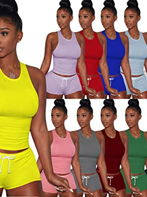 2 Piece Sports Outfit Tracksuit Shirt Shorts Jogger Sportswear Set Activewear