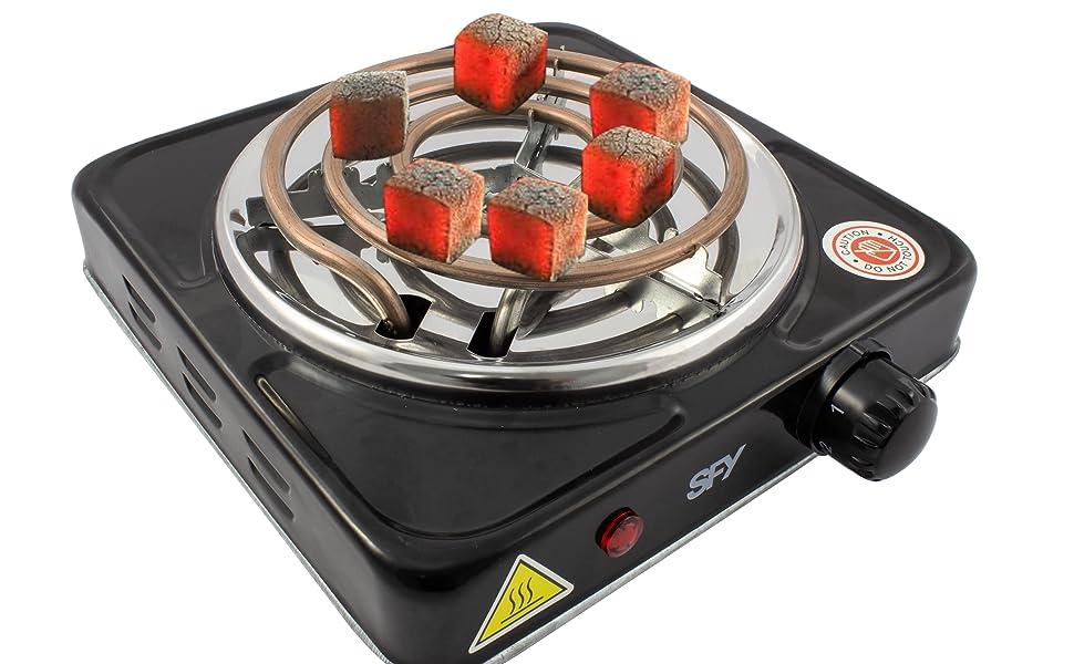 SFY Cocina eléctrica para Shisha cachimba - Hornillo para encender carbón - Placa de Fuego para cocinar - 1000W