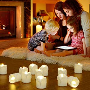PChero Home Halloween Christams Thanksgiving Decor Timer Tea Light Decor