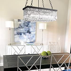 Dining room Linear chandelier