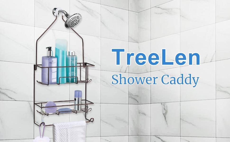 shower organizer hanging