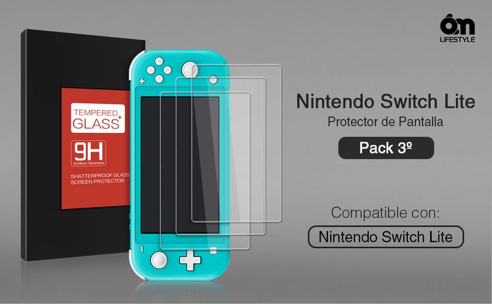 6amLifestyle Protector de Pantalla para Nintendo Switch Lite 2019 [3 PZS] Templado Protector de Pantalla para Switch Lite [Fácil Instalación, Sin Burbujas, Alta Definición, Dureza 9H, Antirayaduras]: Amazon.es: Electrónica