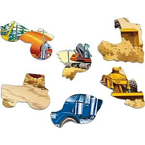 Des pièces de puzzle en forme de personnages amusants et intéressants