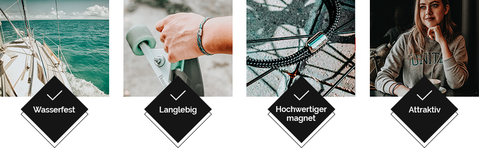 Unsere nautischen Armbänder sind stilvoll und langlebig