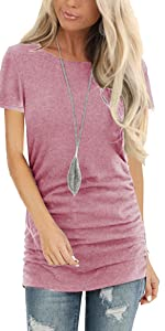 womens tops shirts short sleeve