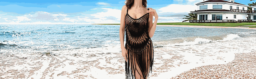 Swimsuit Cover up Color:Black/Blue/Red/Pink/Purple/Green/Sky blue/Rose Red/Black Red/Black yellow