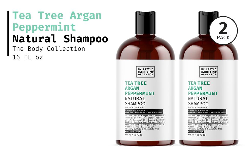 Tea Tree Argan Peppermint Natural Shampoo
