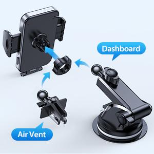 dashboard phone holder for car