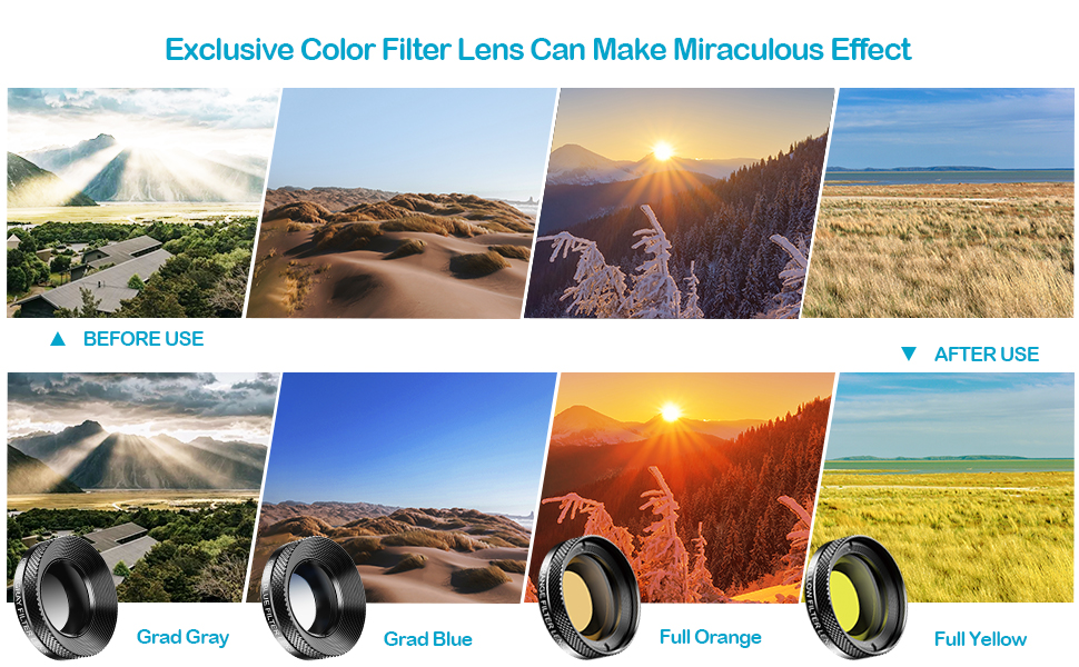 Apexel 10 IN 1 lens kit