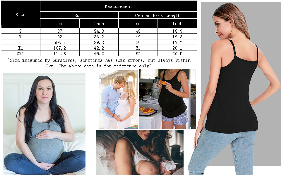 Women's Maternity Nursing Top Breastfeeding Tank Top
