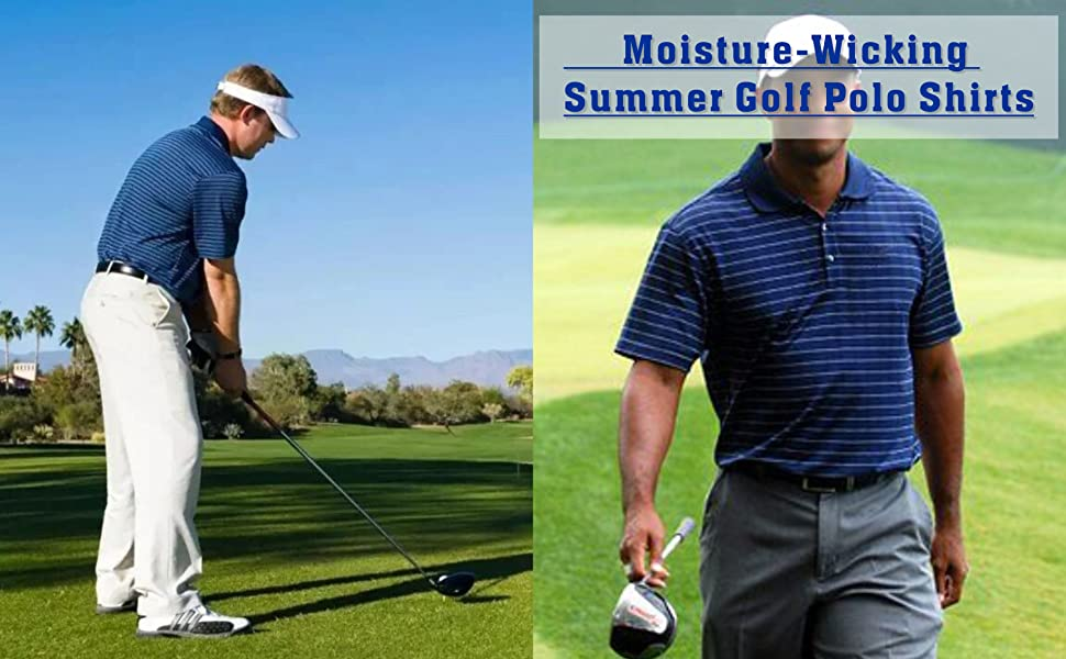moiture wicking fabric quick dry golf shirts for men long/short sleeve