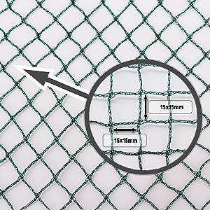 Teichnetz 14m x 6m schwarz Fischteichnetz Laubnetz Netz Vogelschutznetz robust