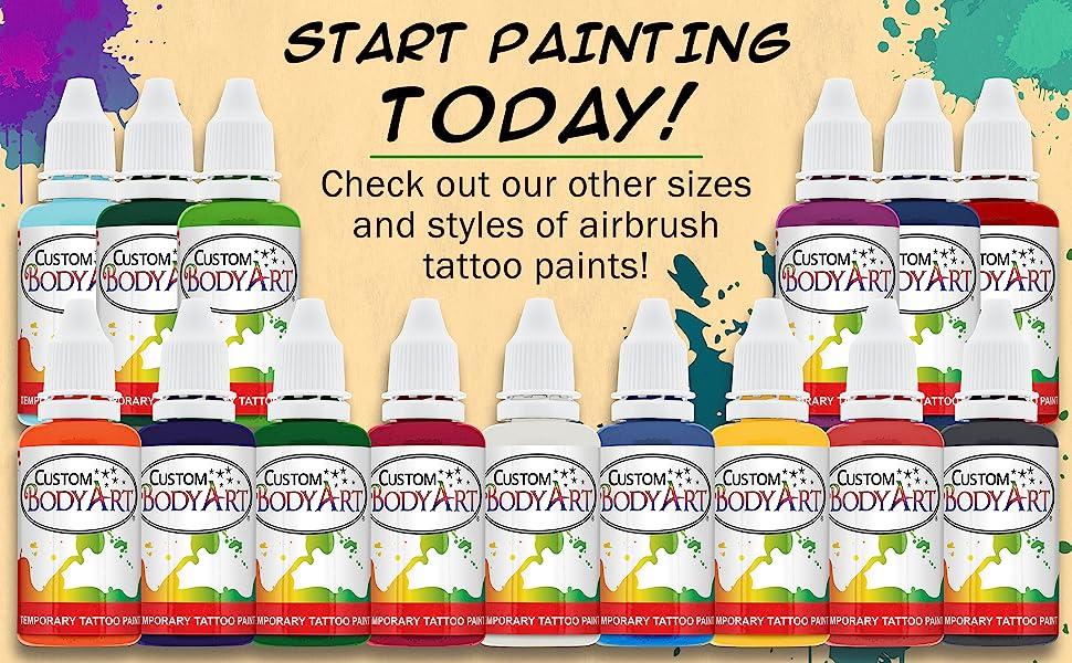 Custom Body Art Airbrush Tattoo Paint