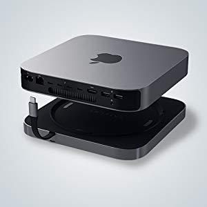 mac mini 2018 スタンド apple USBハブ  USB-C変換 ヘッドホンジャック 音声ジャック カードリーダー SDカード USB-Cハブ Satechi サテチ Stand Hub